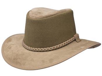 Monterey Breeze Leather Mesh Soakable Hat