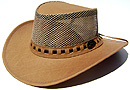Walkabout Safari Leather Mesh Crushable Hat