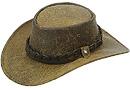 Jacaru Premium Wild Grain Kangaroo Leather hat